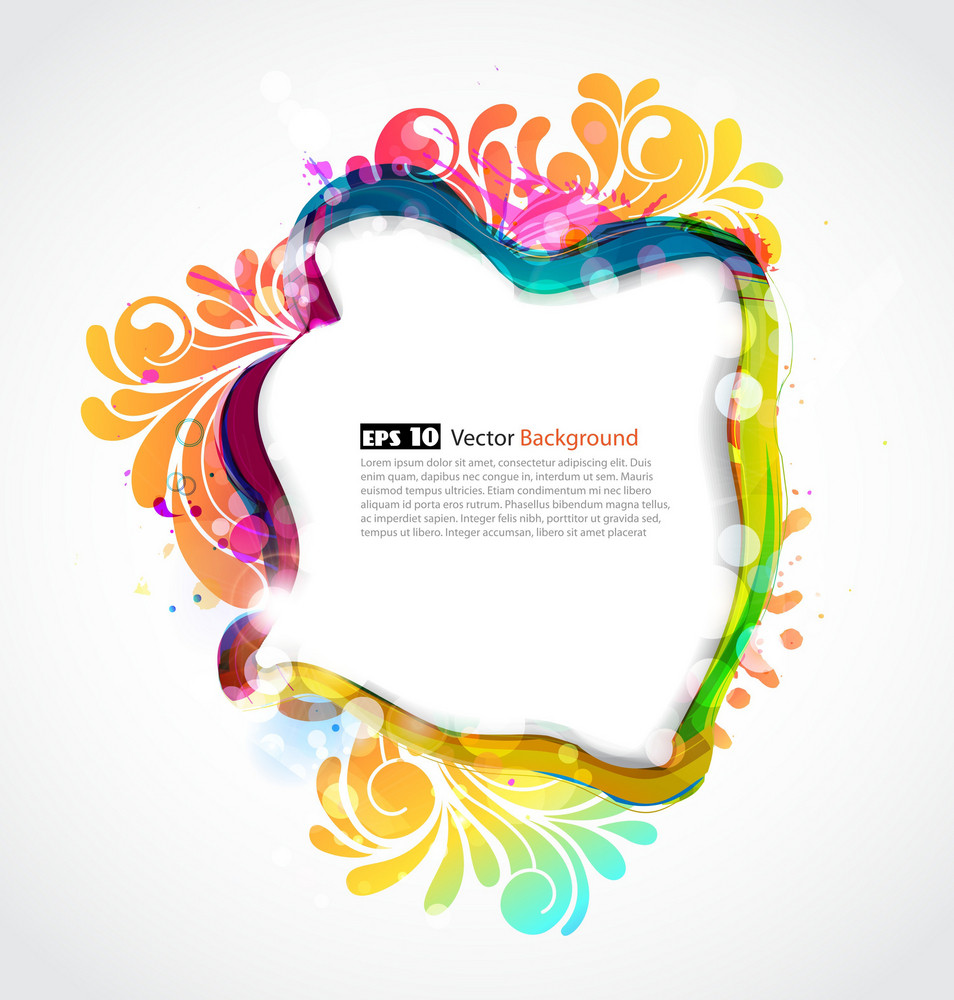 Vector Colorful Abstract Frame