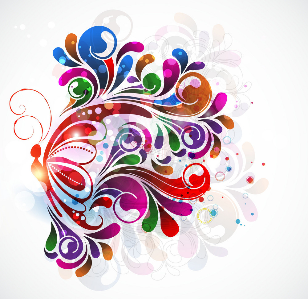 Vector Colorful Abstract Illustration