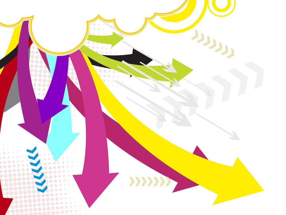 Vector Colorful Arrowhead