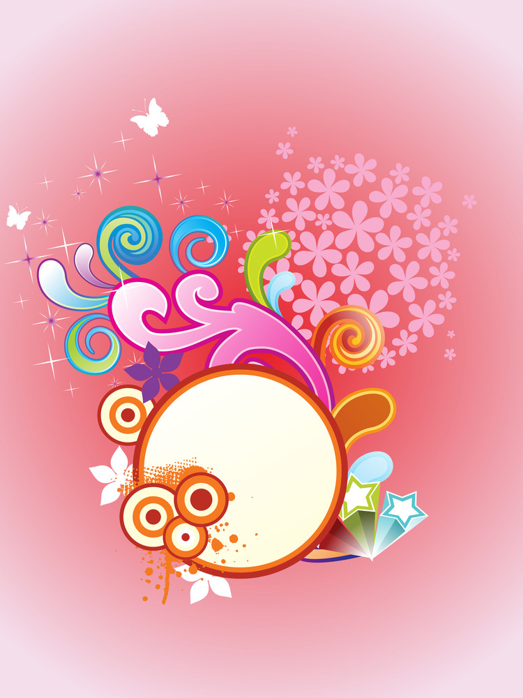 Vector Colorful Artwork Frame