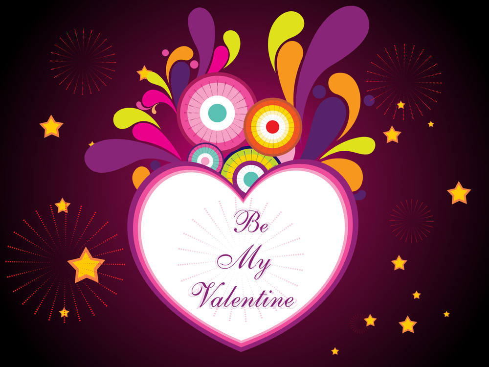 Vector Colorful Artwork With Heart