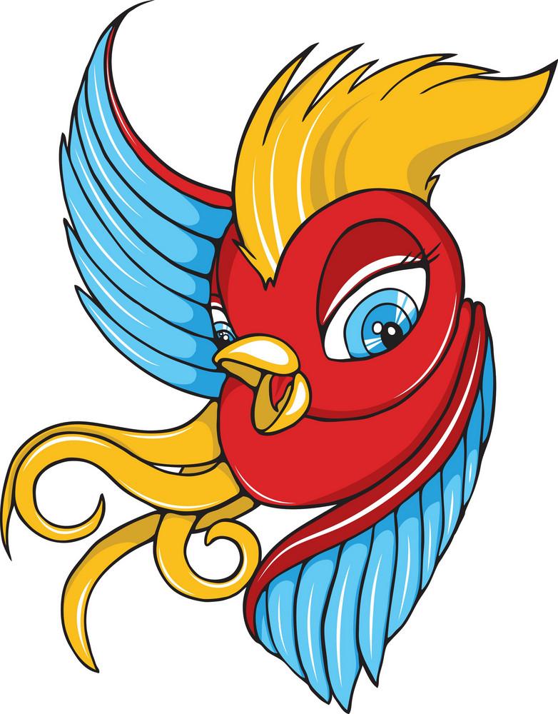 Vector Colorful Bird