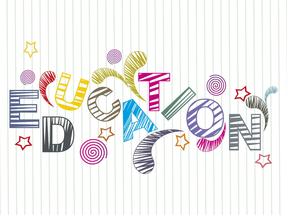 Vector Colorful Education Background