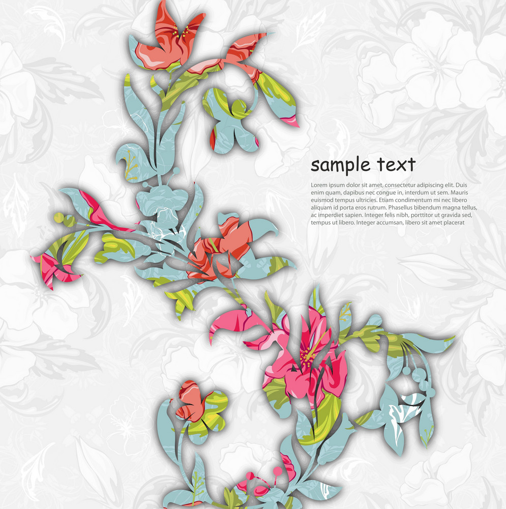 Vector Colorful Floral Background