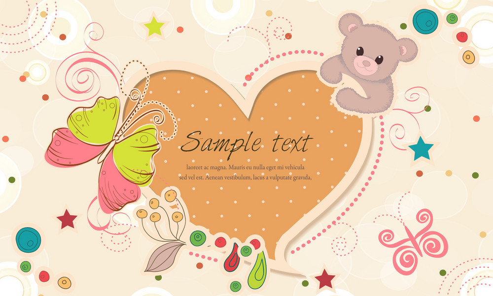 Vector Colorful Frame With Bear
