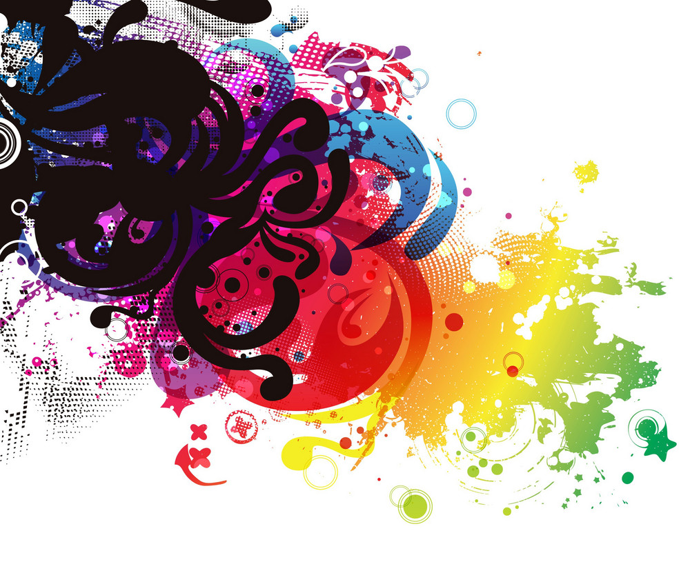 Vector Colorful Grunge Abstract Background
