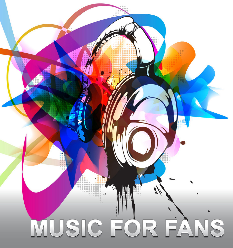 Vector Colorful Music Background