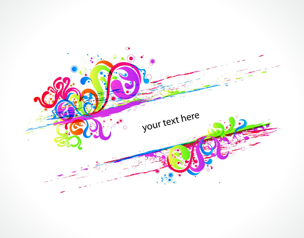 Vector Colorful Swirls Frame