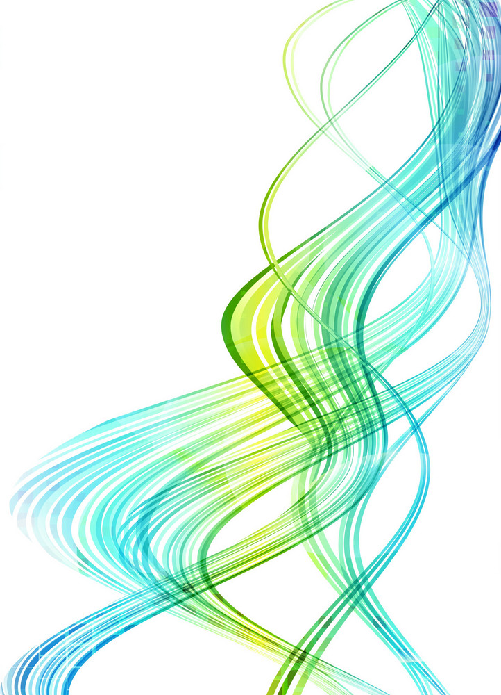 Vector Colorful Waves Background