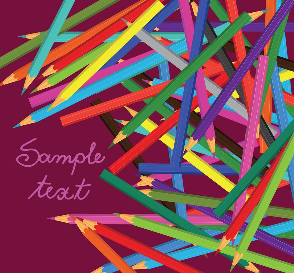 Vector Coloured Pencils
