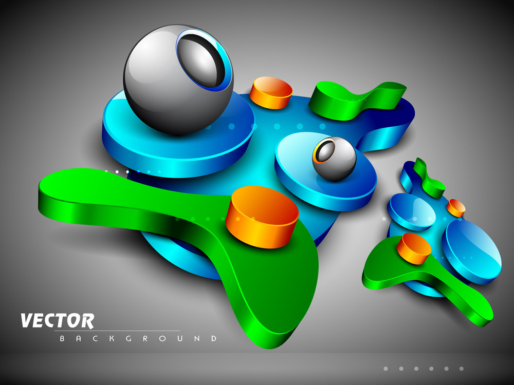 Vector Colourful 3d Abstract Design
