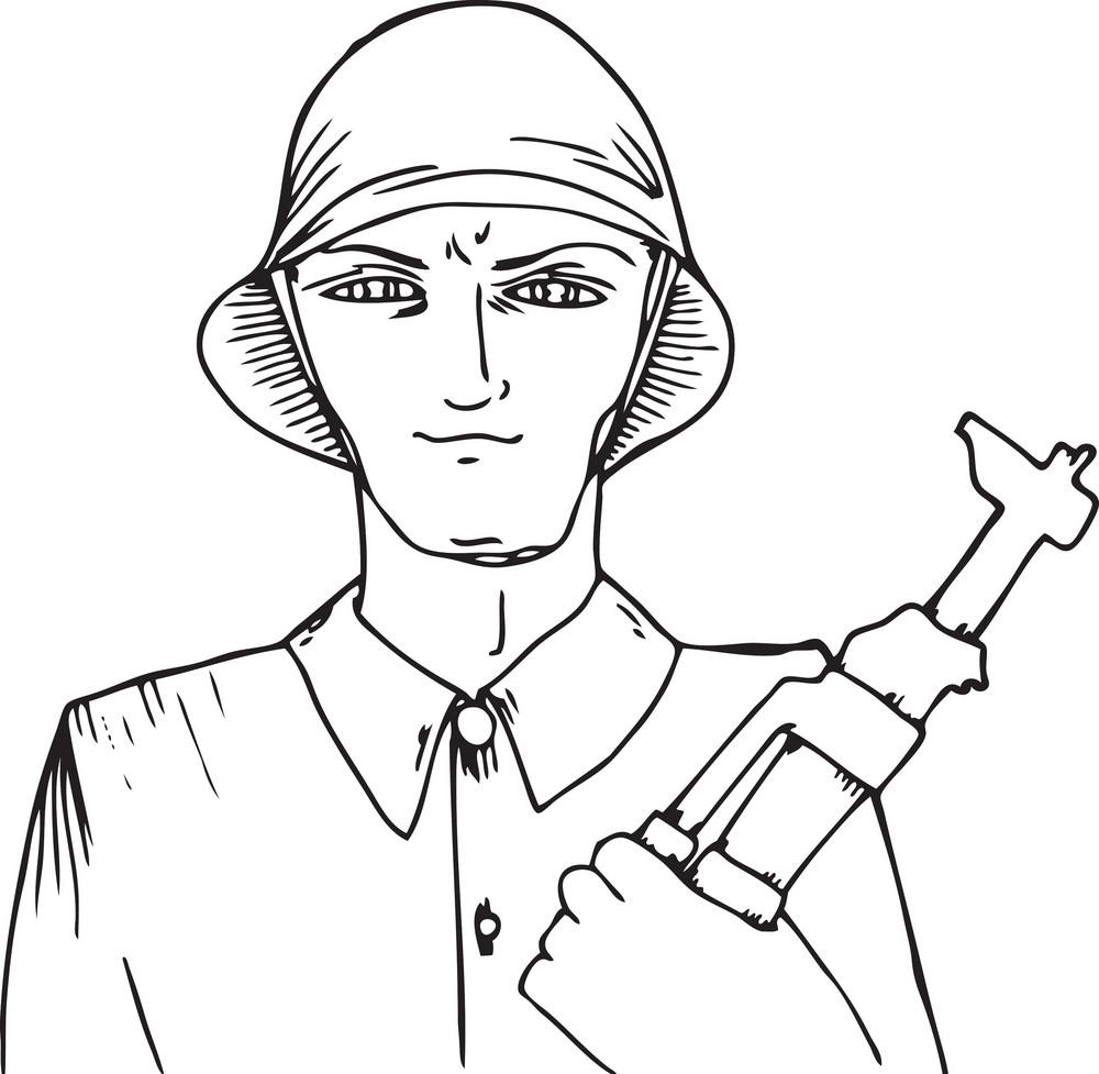 Vector Communist Soldier