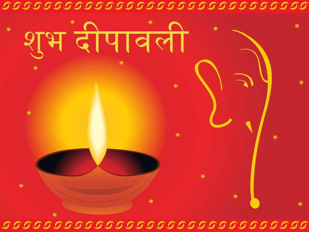 Vector Composition For Diwali