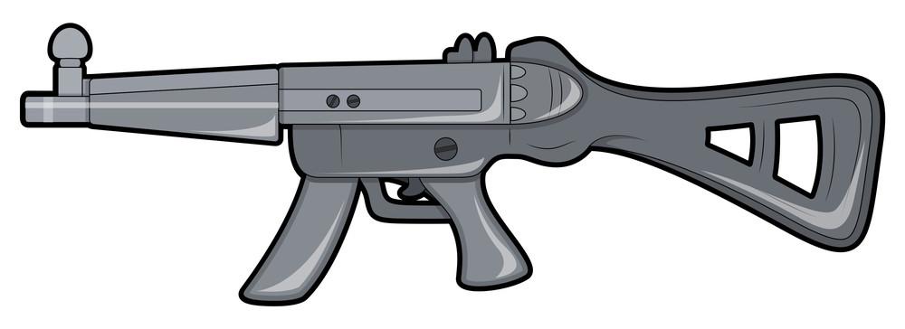 Vector Creative Machine Gun