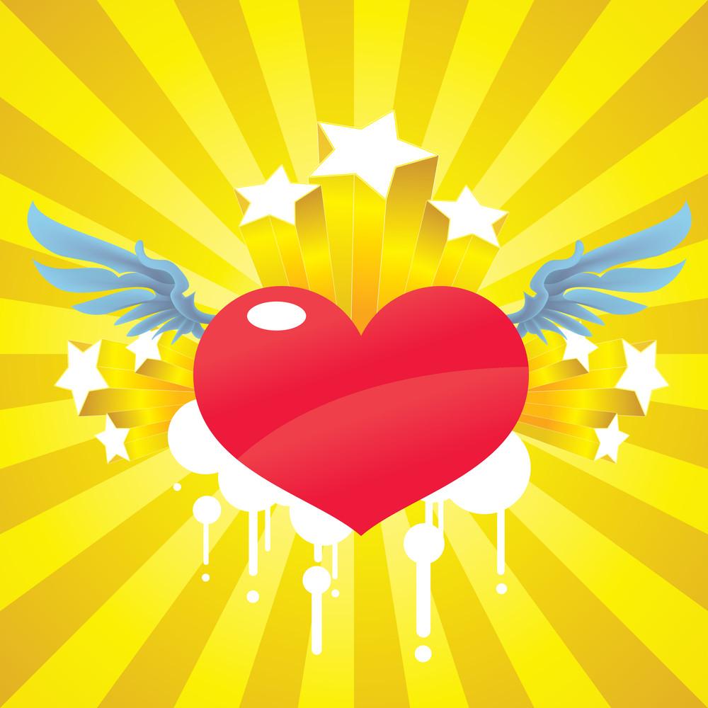 Vector Cupid Heart