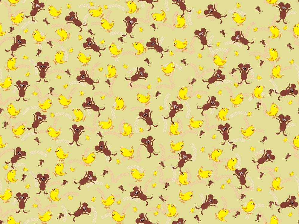 Vector Cute Animal Pattern Wallpaper