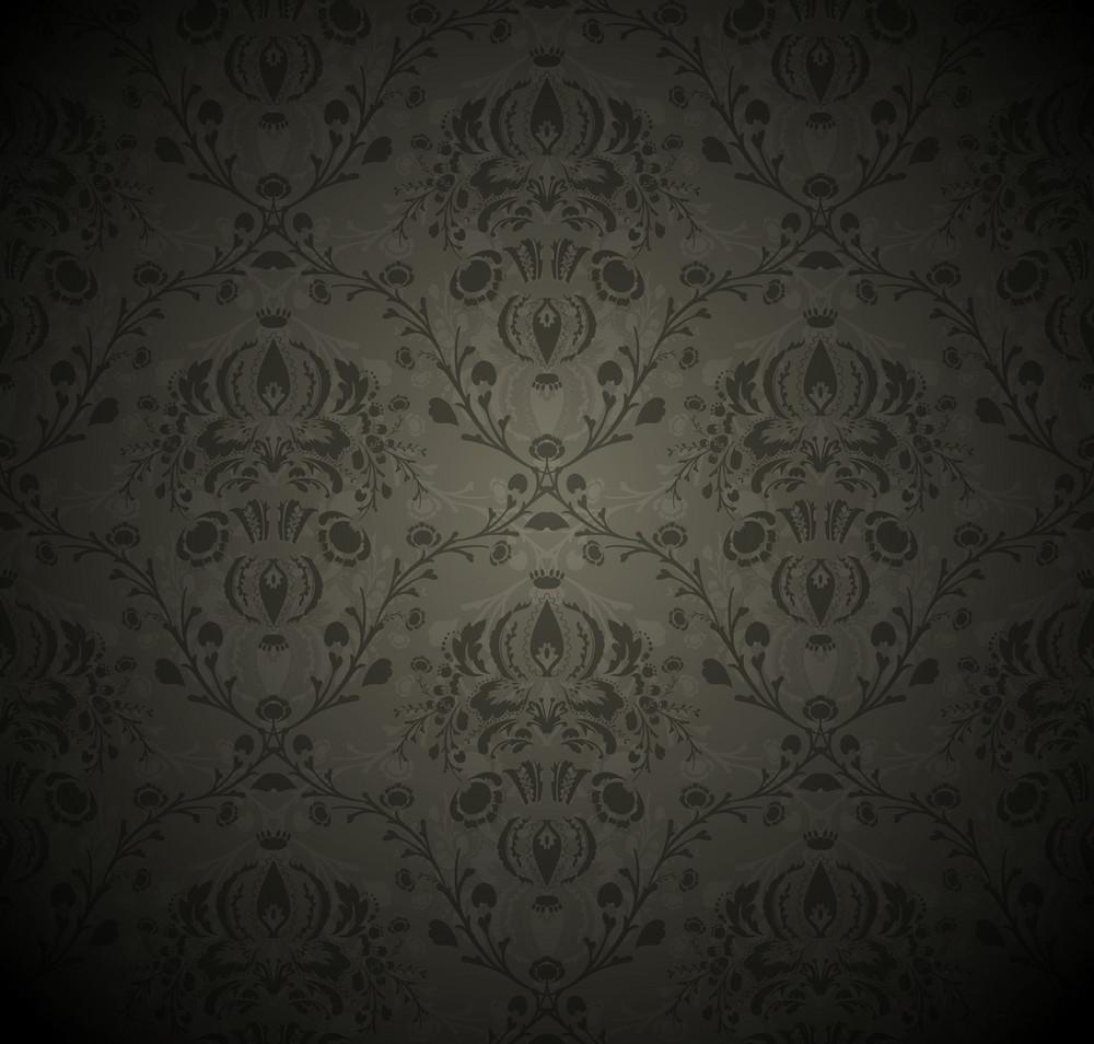 Vector Damask Floral Pattern