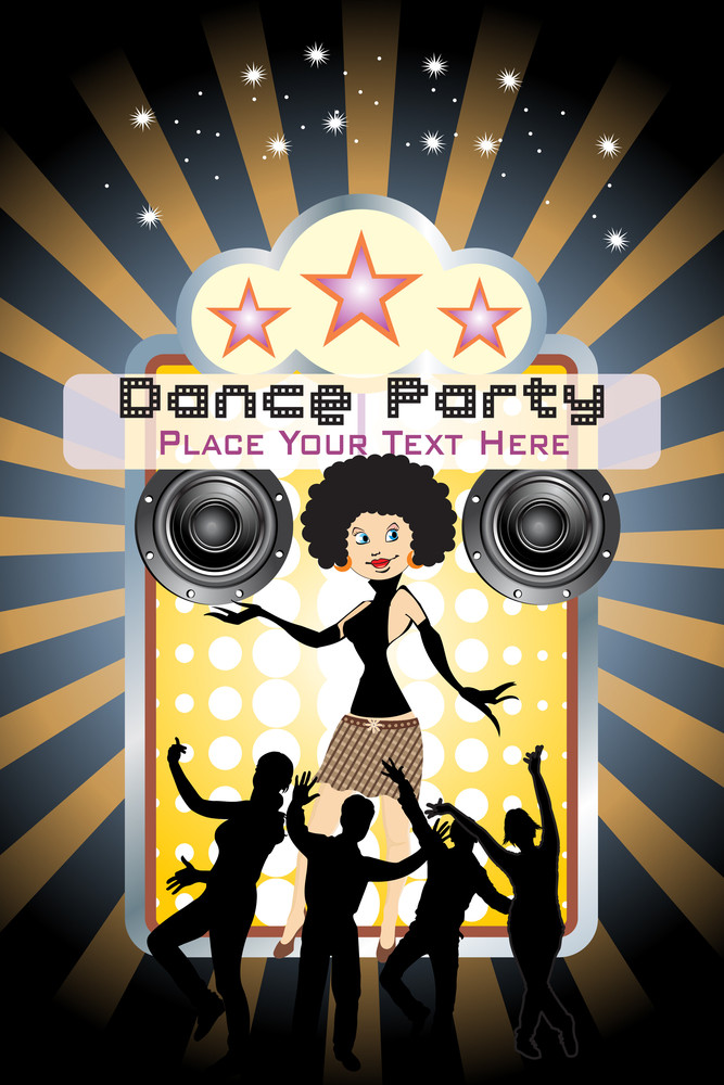 Vector Dance Party Background Illustration