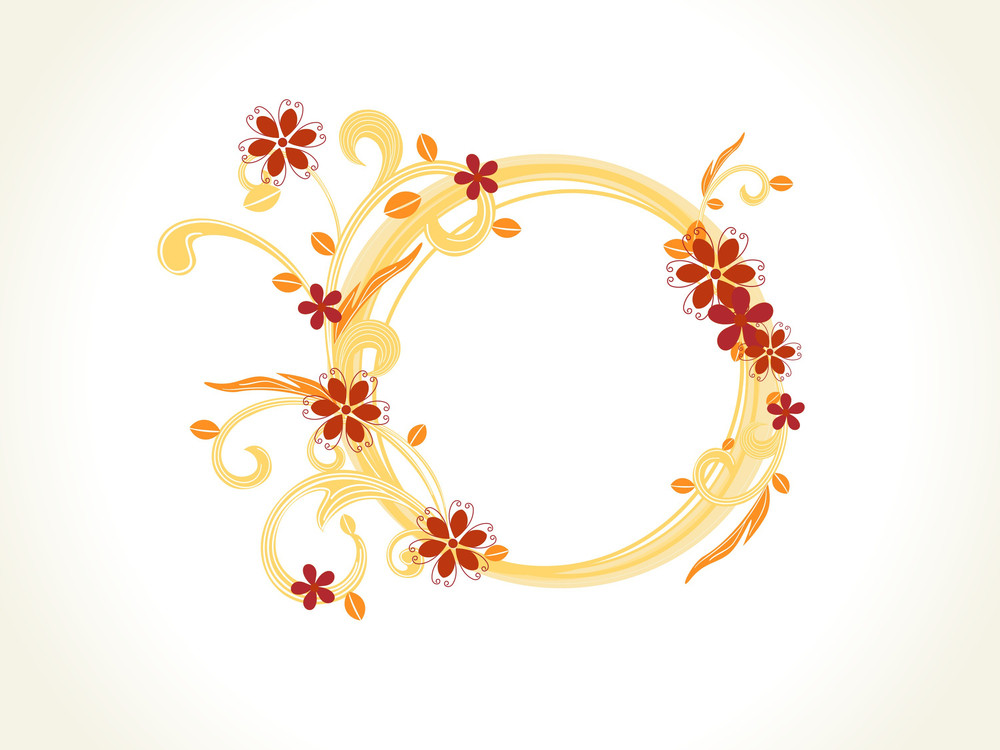 Vector Decorated Floral Frame