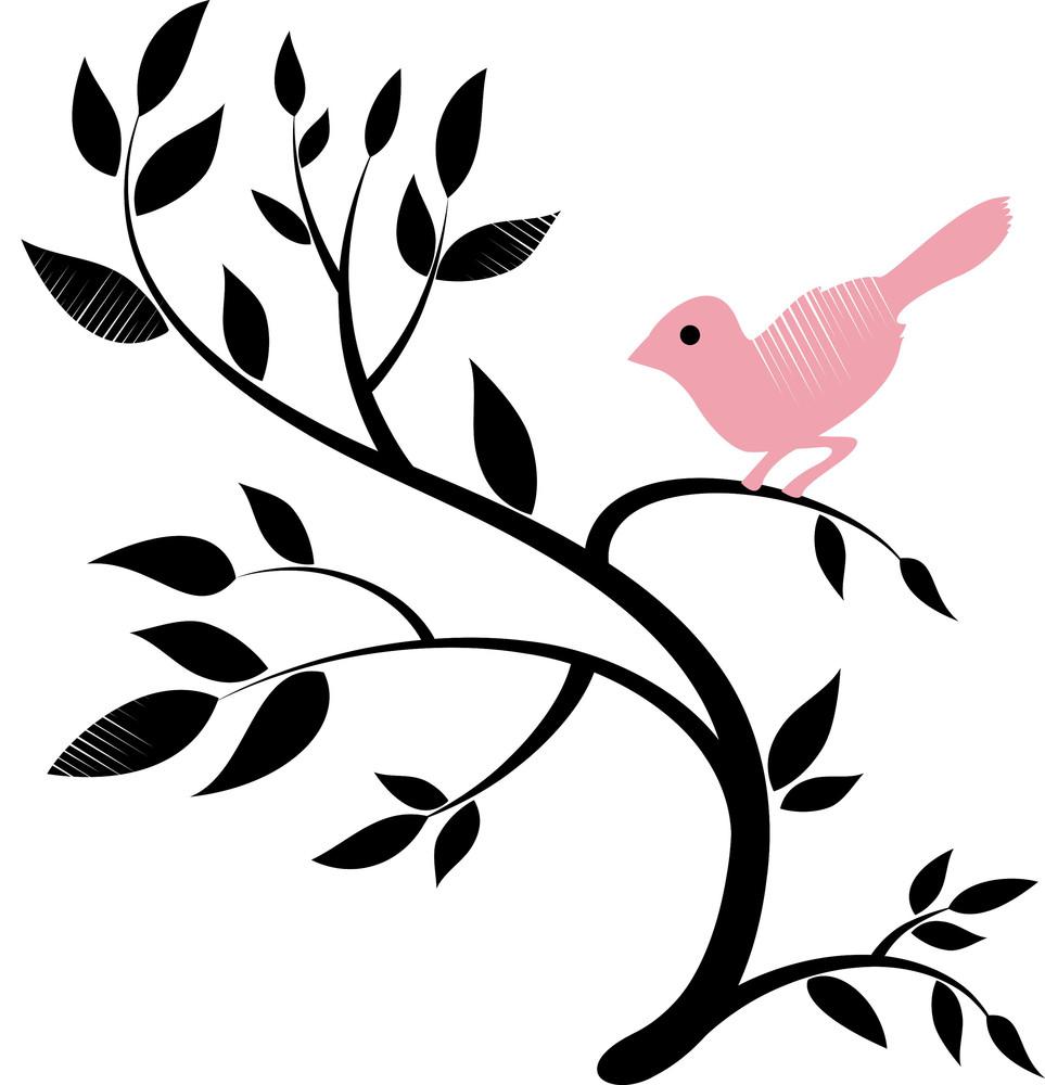 Vector Design Of A Bird On A Tree