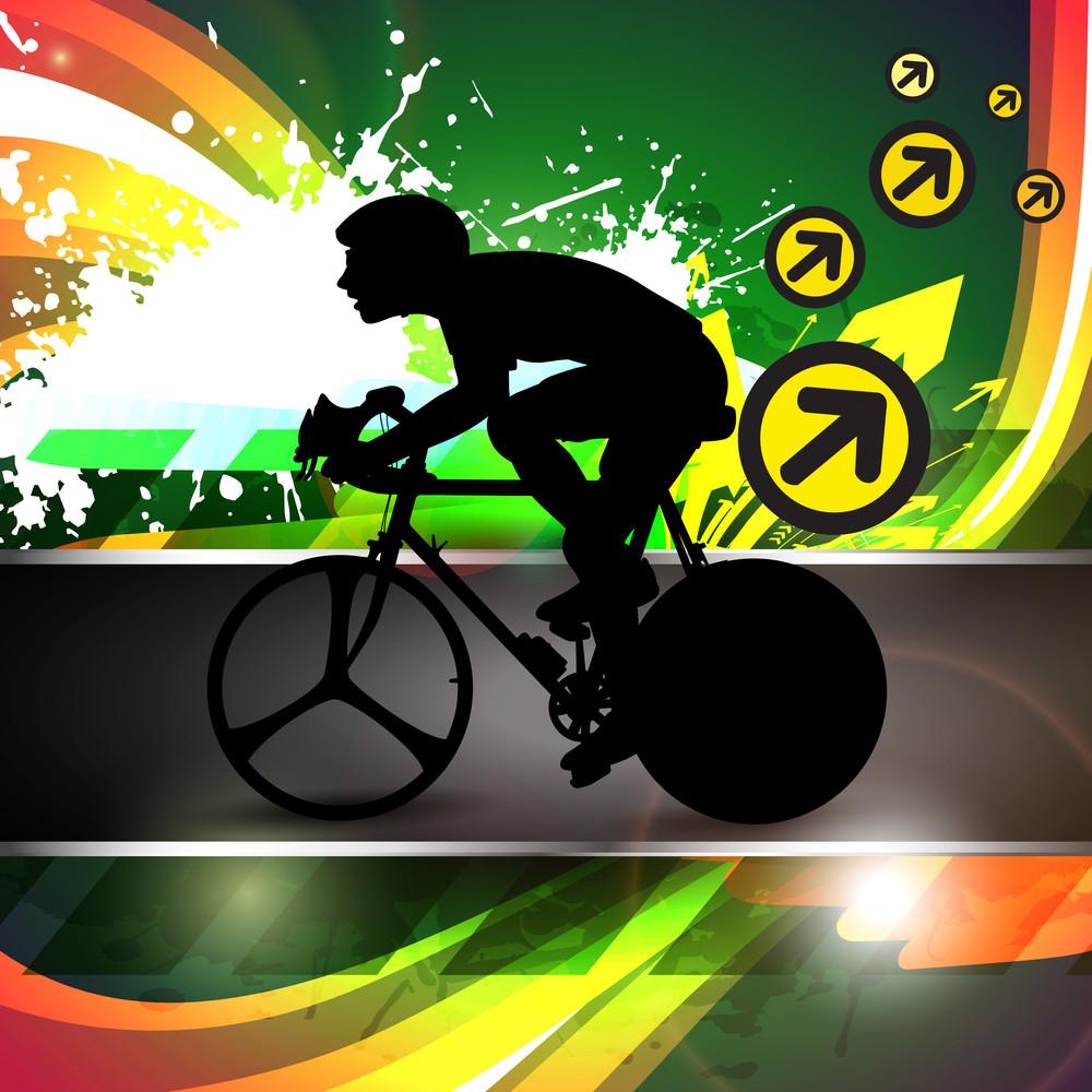 Vector Design Of Bmx Cyclist