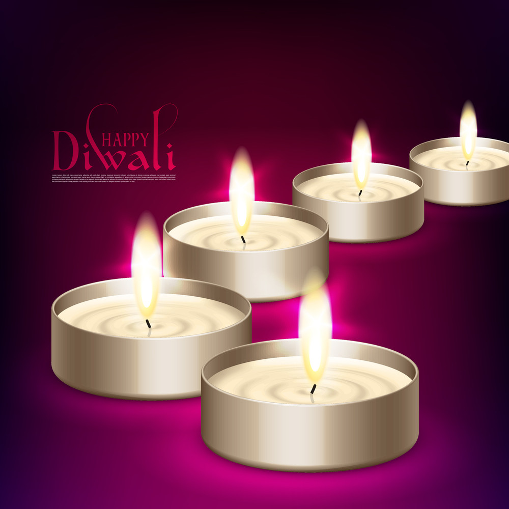 Vector Diwali Candle Light