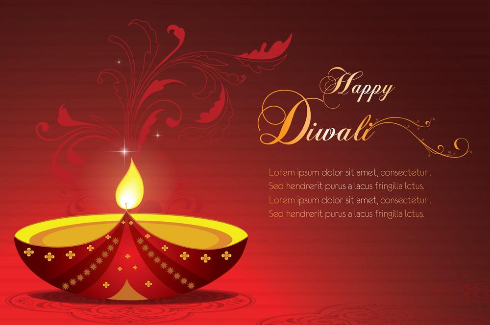 Vector Diwali Greeting Card