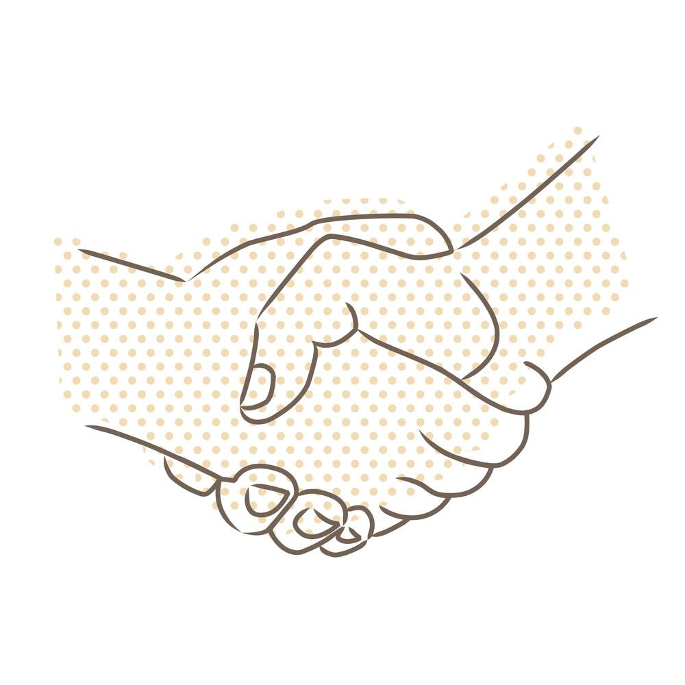 Vector Drawing Of Handshake