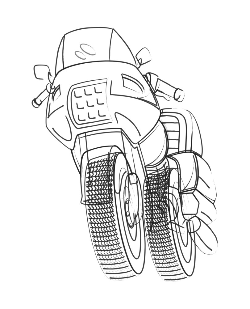 Vector Drawing Of Sports Bike