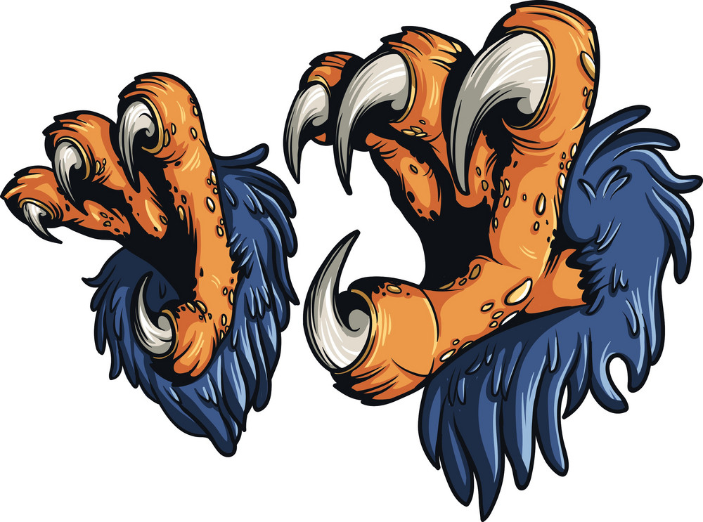 Eagle claw clipart