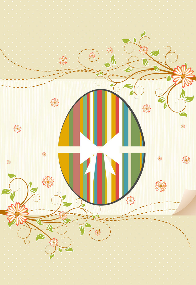 Vector Easter Background With Egg