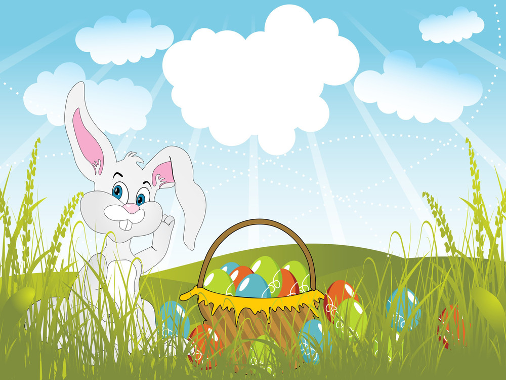 Vector Easter Day Scenery