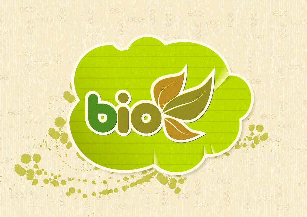 Vector Eco Design With Sticker
