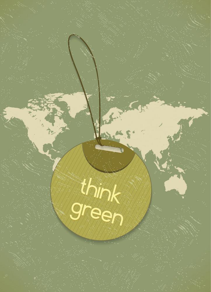 Vector Eco Friendly Shopping Tag