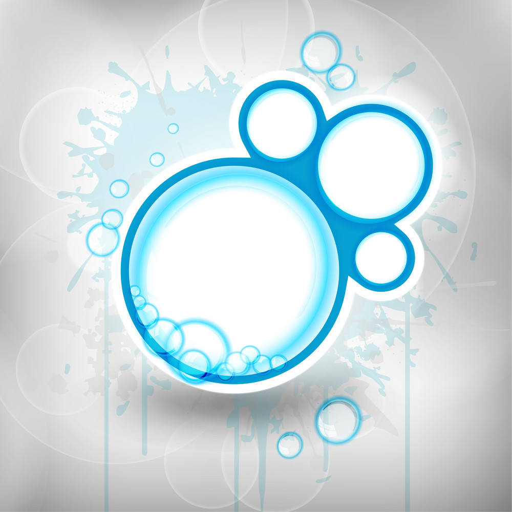 Vector Elegant Blue Abstract With Water Drops.