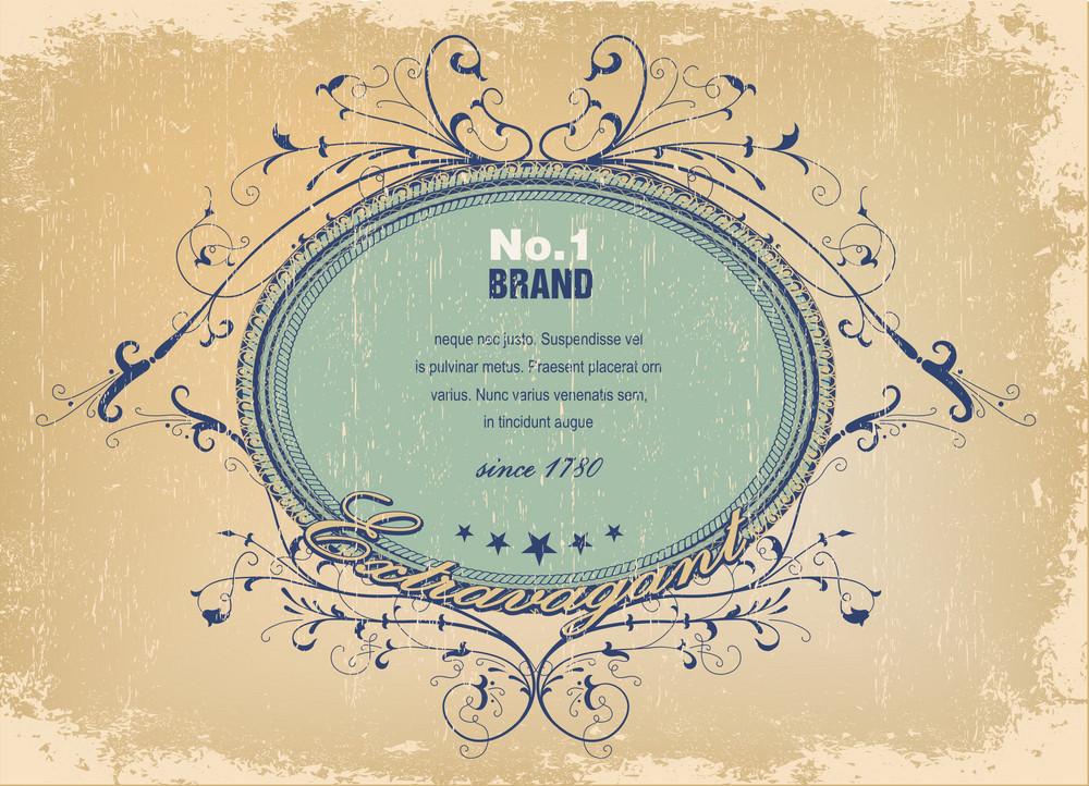 Vector Elegant Label With Grunge Background