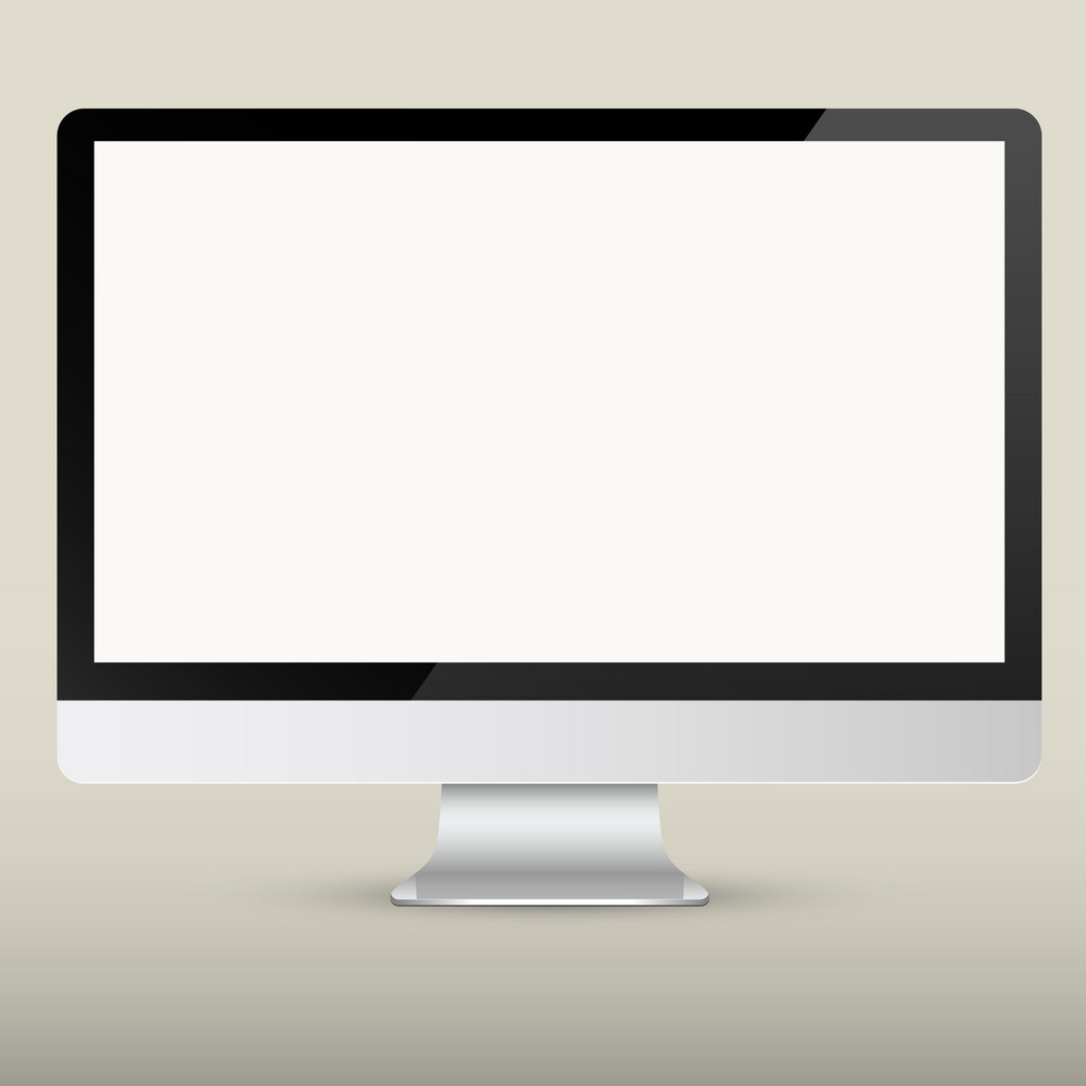 Vector Empty Computer Screen