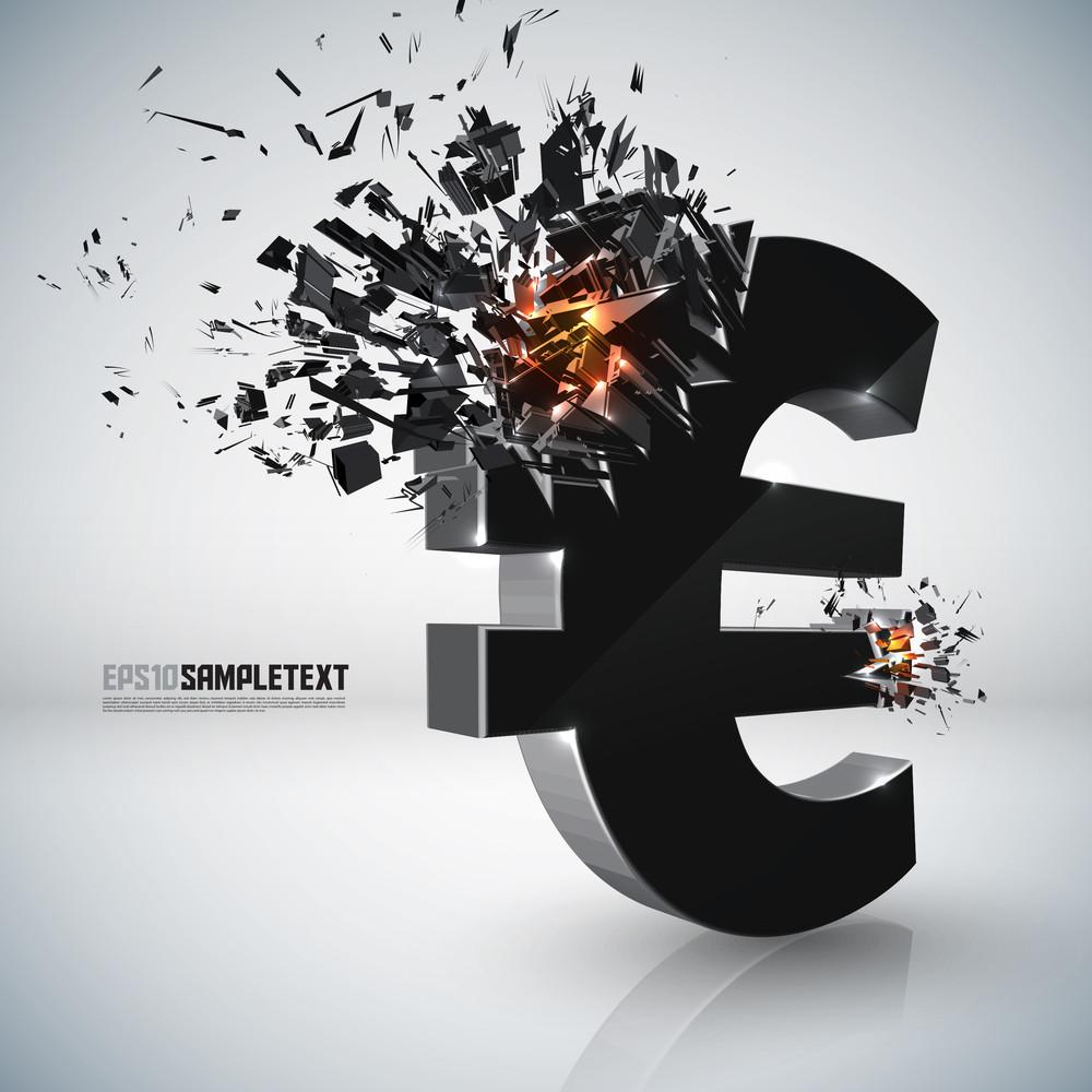 Vector Euro Sign Crushing