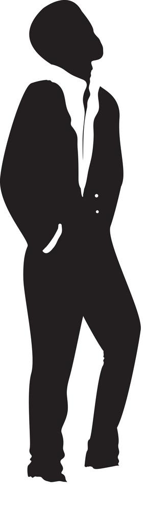 Vector Fashion Man Silhouette