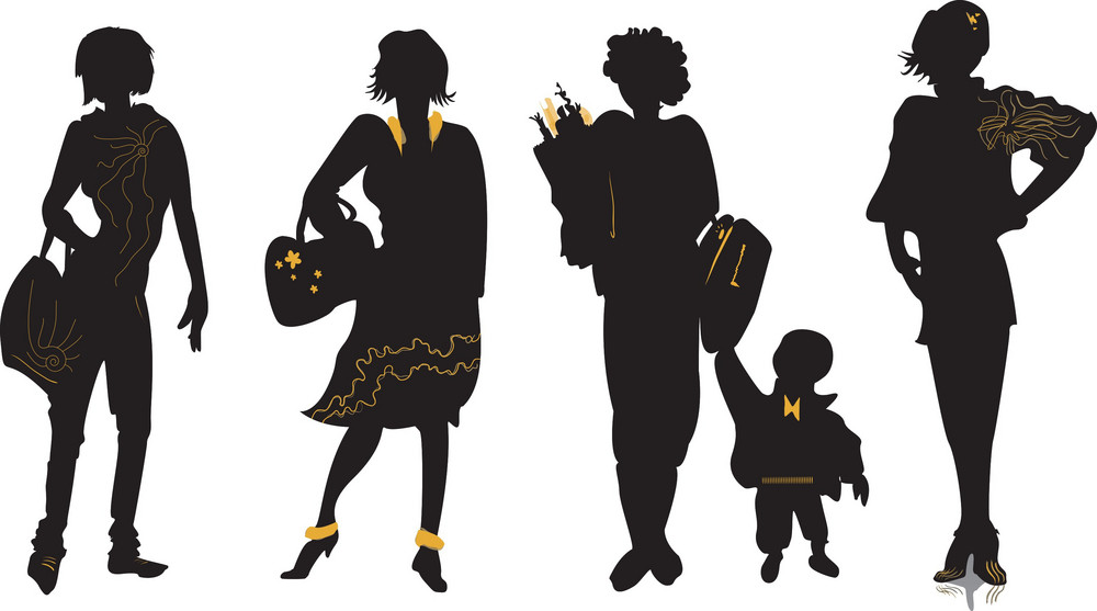 Vector Fashion Silhouettes