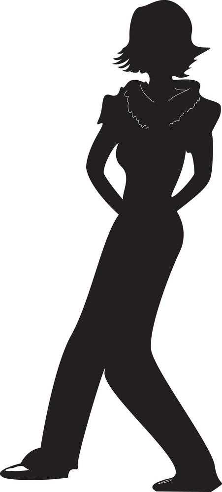 Vector Fashion Woman Silhouette