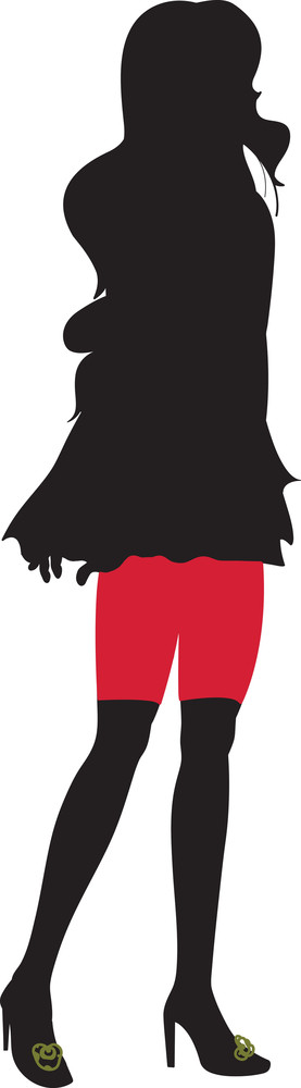Vector Fashion Women Silhouettes