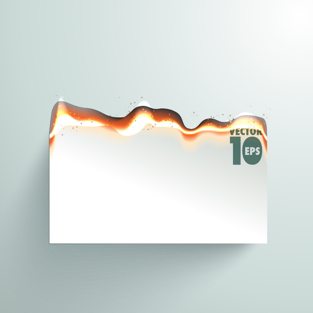Vector Fire Burning Paper