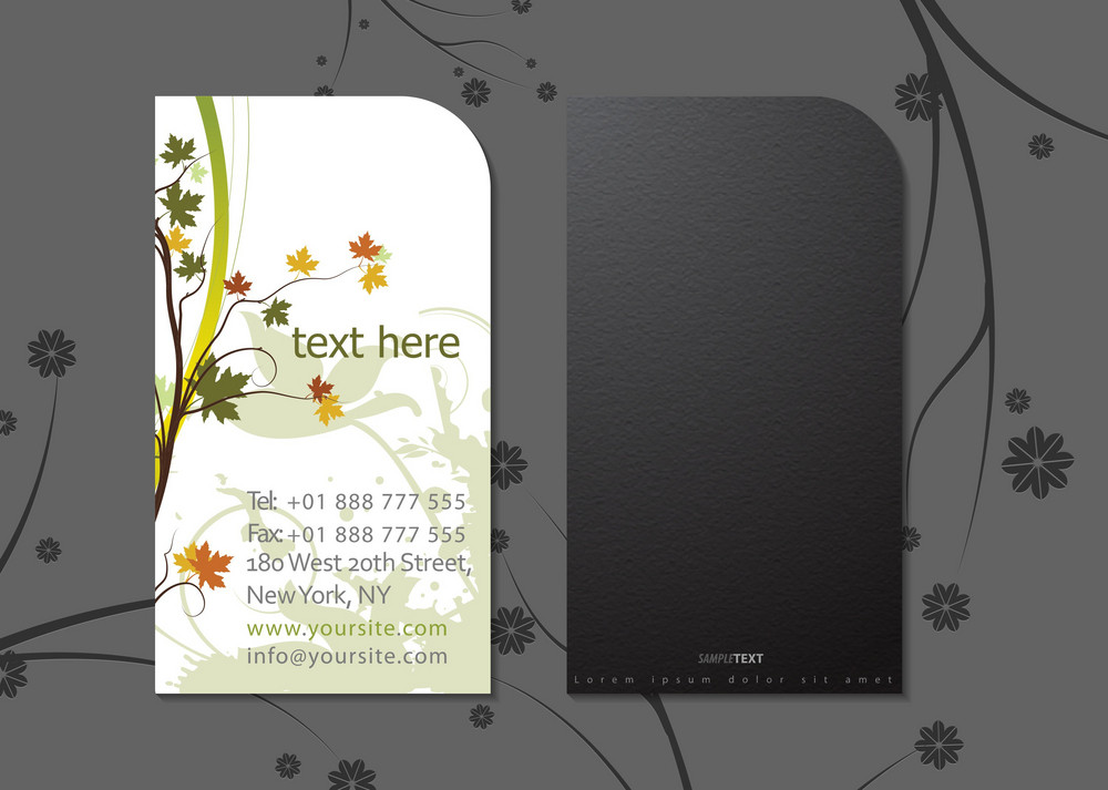 Vector Floral Business Card