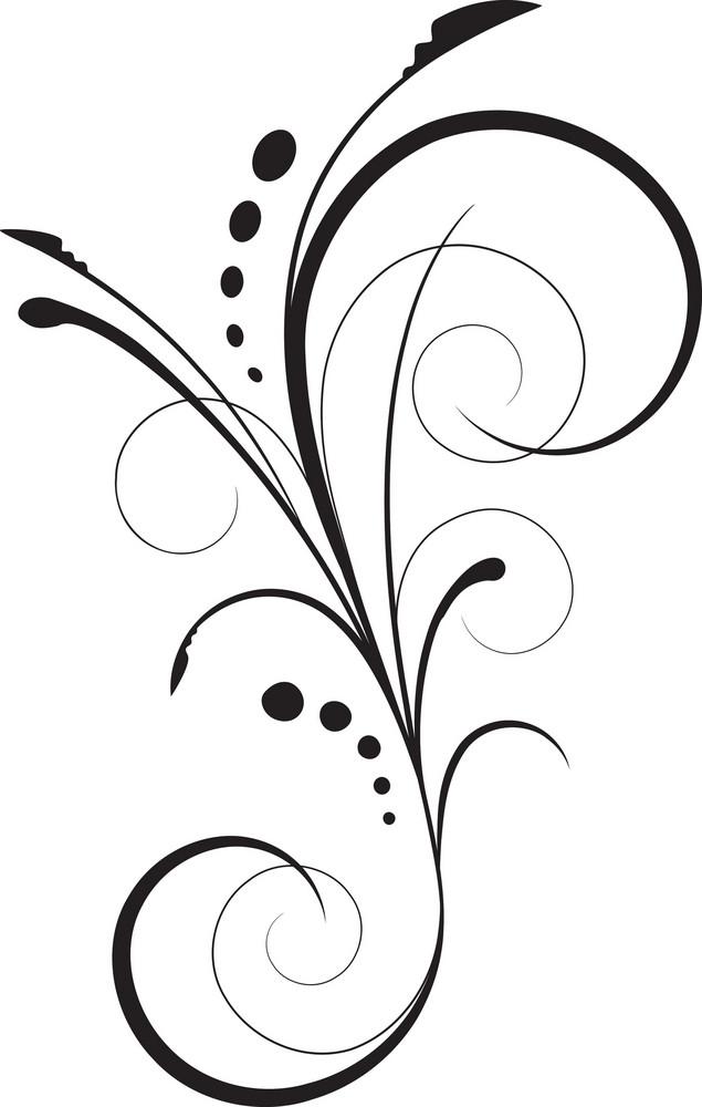 Vector Floral Flourish