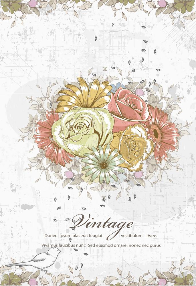 Vector Floral Grunge
