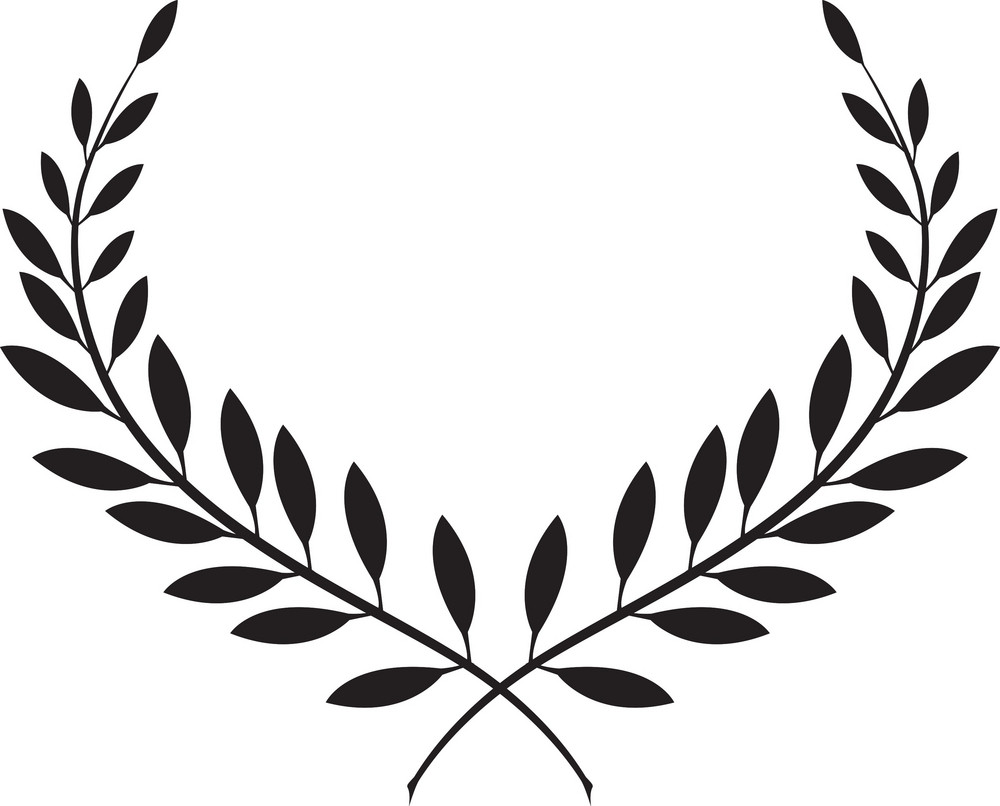 Vector Floral Laurel Royalty-Free Stock Image