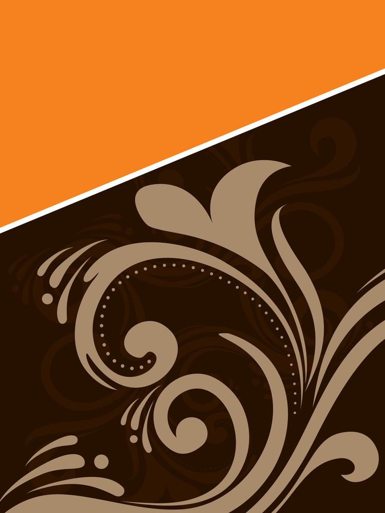 Vector Floral Pattern Carad