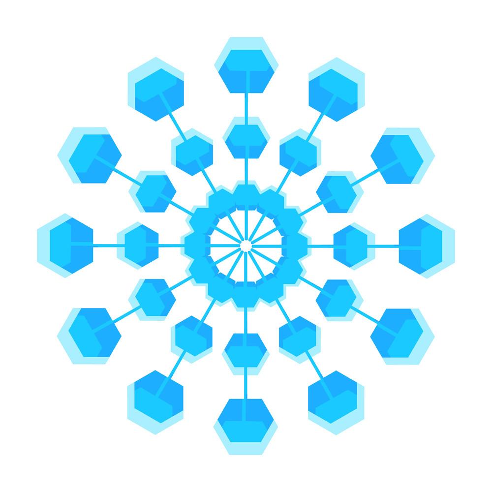 Vector Floral Snowflake