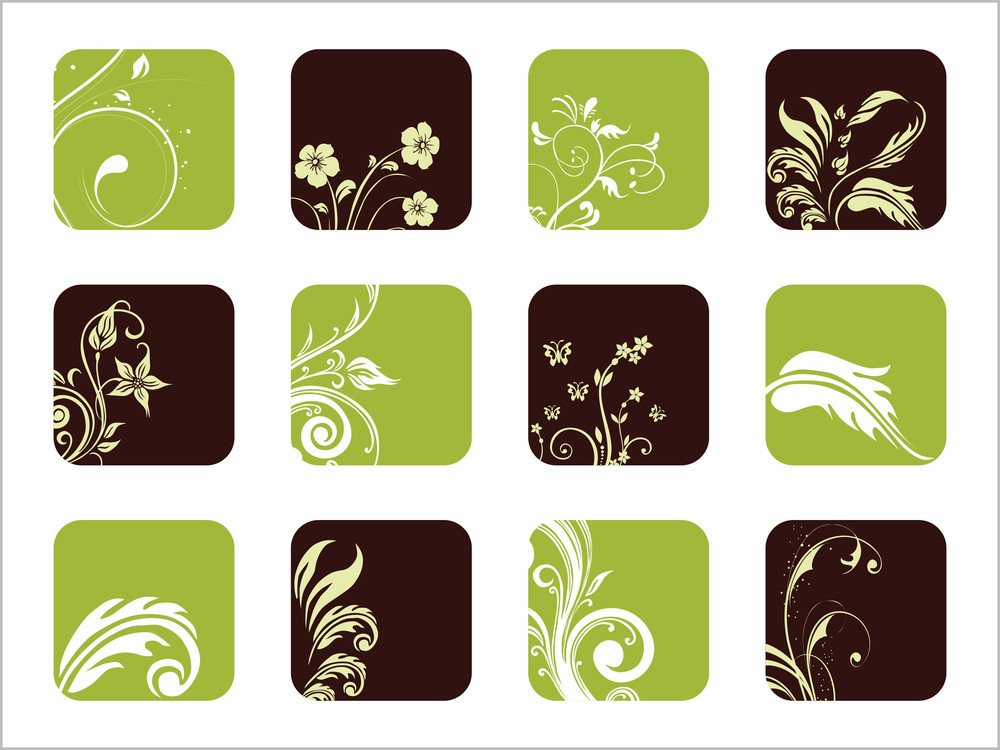 Vector Florish Pattern Icons